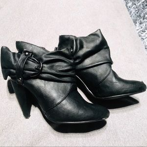 Black Booties with Heels Size 5.5